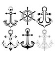 silhouette anchors vector image vector image