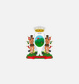 simple flag of city of mexico vector image