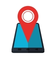 smartphone location pin map gps vector image