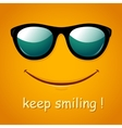Smiley face Yellow smile poster vector image