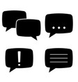 speech bubbles flat black icons set vector image vector image