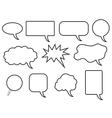 Speech bubles vector image vector image