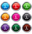 stationery scissors set 9 collection vector image vector image