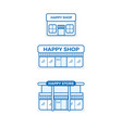 store icon shop growth business infographics vector image