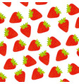 strawberry fruit background icon vector image vector image