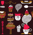 tea time background vector image vector image