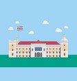 thai government house building vector image