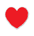 torn paper heart shape vector image