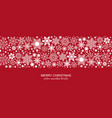 white and red seamless snowflake border xmas vector image vector image