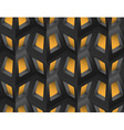 Window Lattice with Light 3d Seamless Pattern vector image
