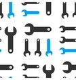 Wrench Seamless Flat Pattern vector image