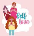 young women with vitiligo cartoon character self vector image vector image