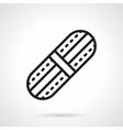 Adhesive plaster black line icon vector image
