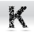 Letter K formed by inkblots vector image