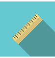 Yellow ruler on blue vector image