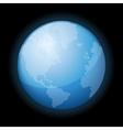 Globe Icon of the World on Black Background vector image