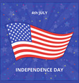 july 4 independence day in the united states flag vector image