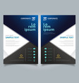 brochure black and blue geometric triangle with vector image