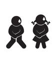 Toilet funny simbols vector image