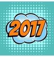 2017 comic book bubble text retro style vector image vector image