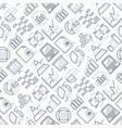 analytics seamless pattern with thin line icons vector image