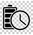battery time icon vector image