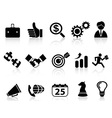 business icons setblack series vector image vector image