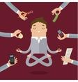 Businessman doing Yoga vector image vector image