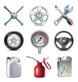 Car service tools icon set vector image vector image