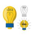 cartoon lamp light bulb design flat vector image vector image