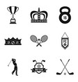chance icons set simple style vector image vector image