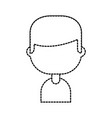 character male profile employee person vector image vector image