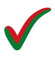 check mark belarus flag symbol elections voting vector image