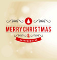 christmas greeting card with light background red vector image vector image