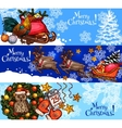 Christmas New Year sketch banner for xmas design vector image