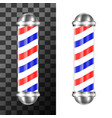 classic barbershop pole vector image vector image