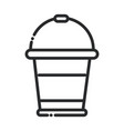 cleaning plastic bucket container domestic vector image