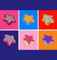 cookies pop art style vector image