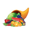 cornucopia isolated vector image vector image