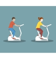 Couple on Exercise Bike vector image
