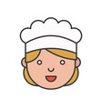 cute chef head filled outline icon editable stroke vector image vector image
