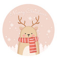 cute reindeer for christmas card vector image