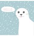 Cute seal of cute cartoon vector image