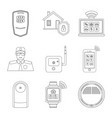 design of office and house icon collection vector image