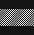 diagonal black stripes on white pattern background vector image vector image