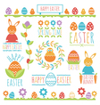 easter decorations vector image vector image