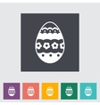 Easter Egg single icon vector image vector image