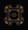elegant golden frame in trendy outline style vector image