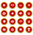 explosion icon red circle set vector image vector image