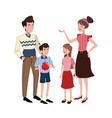 family relation happy vector image vector image